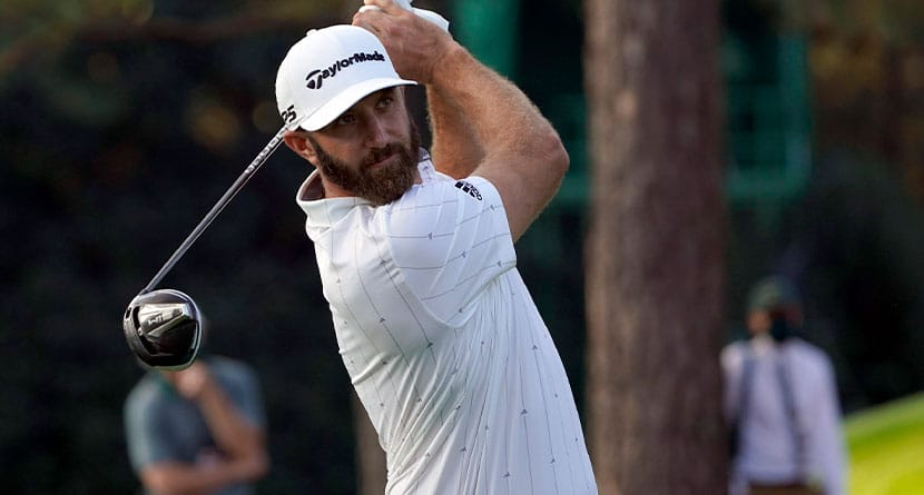 Dustin Johnson Beans Volunteer With Errant Drive