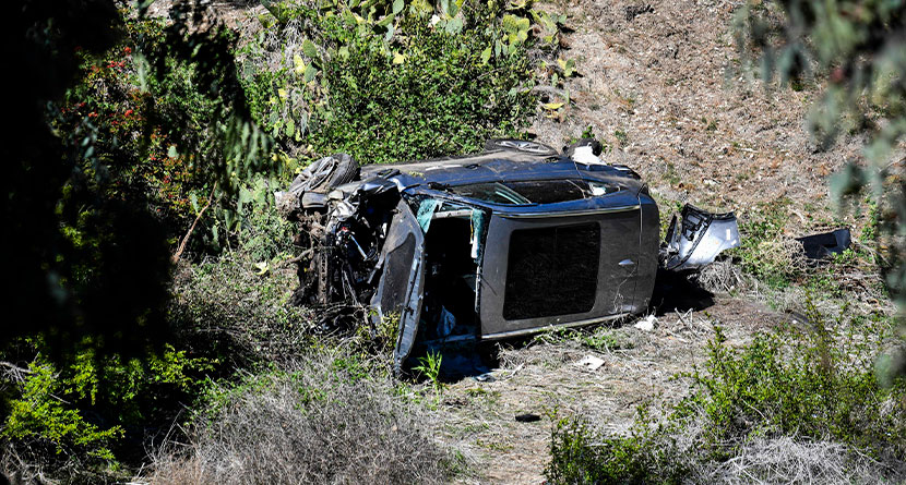 Sheriff Executes Search Warrant For Tiger's Crashed Vehicle's Black Box Data