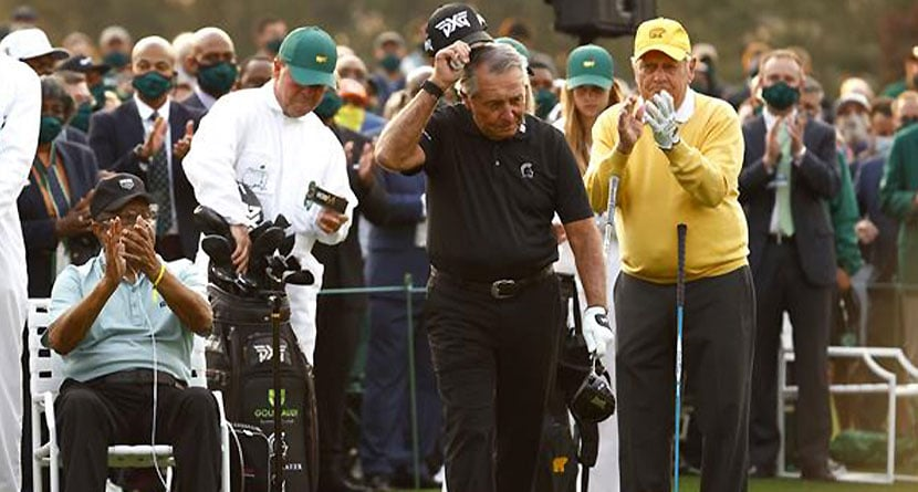 """Report: Gary Player's Son """"Banned"""" From Masters For Honorary Starter Stunt"""