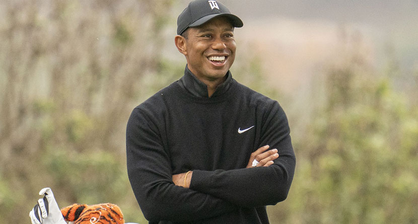 Woods Shares First Picture Since February Car Crash