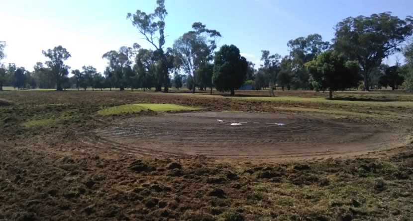 Australian Golf Course Destroyed By Vandal With Tracker Plow