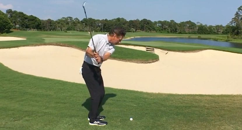 A Trick To Playing Over A Bunker To The Green