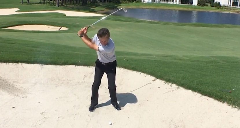 Get More Speed Through The Ball In The Bunker