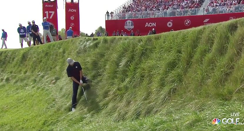 Spieth Pulls Off Incredible Shot During Friday Foursomes At The Ryder Cup